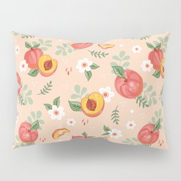Peaches on Peach Pillow Sham