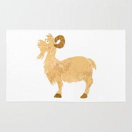 funny Goat cartoon. Rug