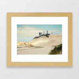 beach dunes Framed Art Print