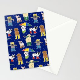 It's Raining Dogs + Dogs Stationery Cards