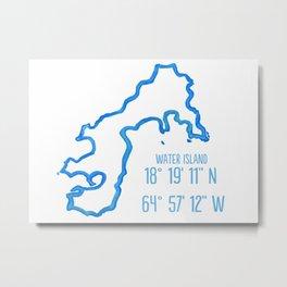 Water Island coordinates Metal Print