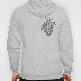 Anatomical Heart Ink Illustration Hoody