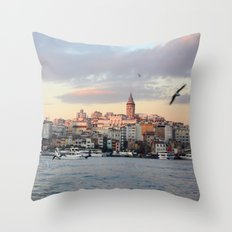 Sunset in Istanbul  Throw Pillow