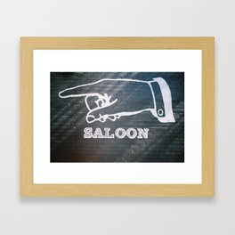 Saloon Framed Art Print