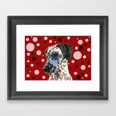 Dalmatian and Dots Framed Art Print