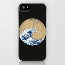 Hokusai Kaiju iPhone Case
