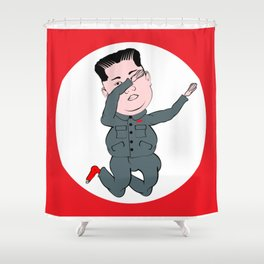 North Korea Dabbing Shower Curtain