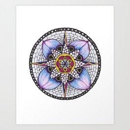 Watercolour Peddles Art Print