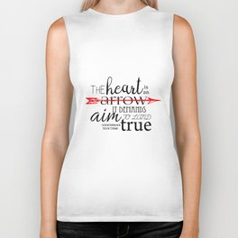 THE HEART IS AN ARROW | SIX OF CROWS BY LEIGH BARDUGO Biker Tank