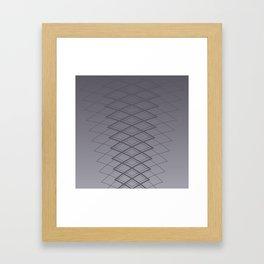 Grid on Steel Framed Art Print