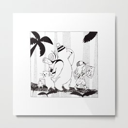 Adventures in the Jungle Metal Print