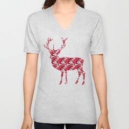 Christmas Pattern Deer Unisex V-Neck