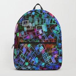 Blue Squared Vortex Backpack