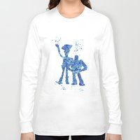 toy story Long Sleeve T-shirts featuring Woody and Buzz Toy Story Disneys by Carma Zoe