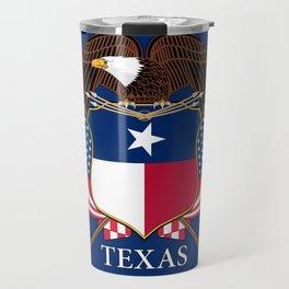 Texas flag and eagle crest concept Travel Mug