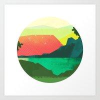 Circlescape Art Print