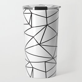 Geometrical modern black abstract wondrous pattern Travel Mug