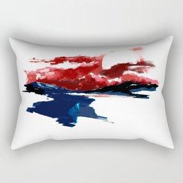 Atonement hour - dark sunset of purgatory Rectangular Pillow