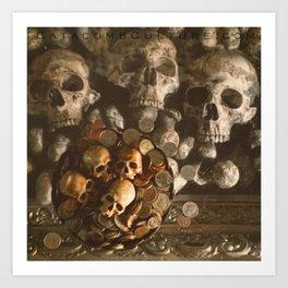 Catacomb Culture - Human Skulls and Coins Art Print