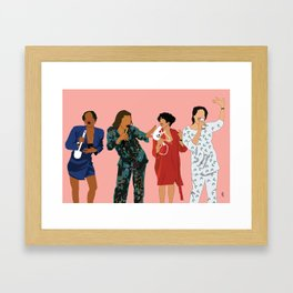 Living Single 90's TV Classic Framed Art Print