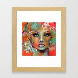 Little Colorgirl Original Painting Framed Art Print