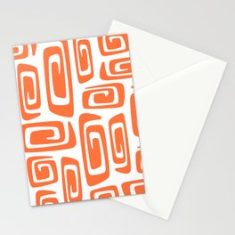 Mid Century Modern Cosmic Abstract 613 Orange Stationery Cards