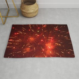 Red Fireworks Rug