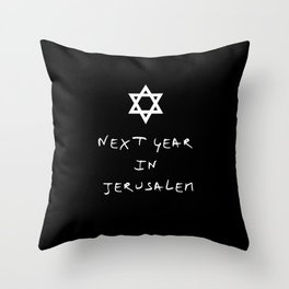 Next year in Jerusalem 5 Throw Pillow