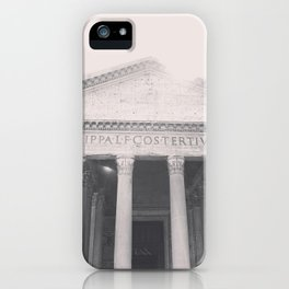 The Pantheon, fine art print, black & white photo, Rome photography, Italy lover, Roman history iPhone Case