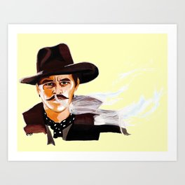 "Tombstone (Film, 1993) Doc Holliday ""I'm Your Huckleberry"" * SUNRISE FILL * Art Print"