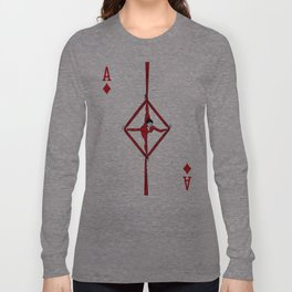 Sawdust Deck: The Ace of Diamonds Long Sleeve T-shirt