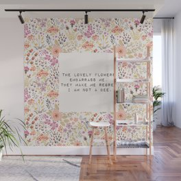 The lovely flowers embarrass me - E. Dickinson Collection Wall Mural