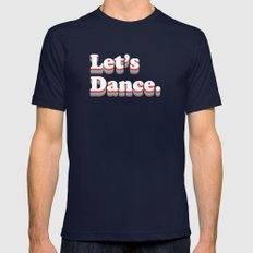Let's Dance Navy SMALL Mens Fitted Tee
