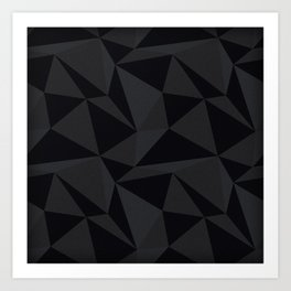 Triangular Black Art Print
