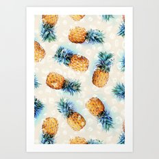 Pineapples + Crystals  Art Print