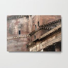 Pantheon of Rome Side View Metal Print