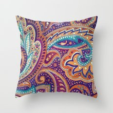 Summer paisley Throw Pillow