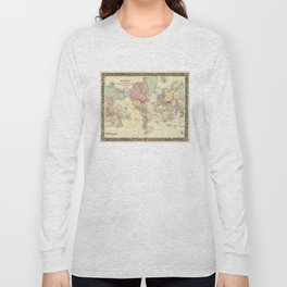 Vintage Map of The World (1860) Long Sleeve T-shirt