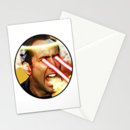 Nicolas Rage Cage   Funny Meme   Nic Cage Face   Gift For Men, Woman Stationery Cards