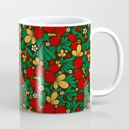 Strawberry pattern in traditional russian style hohloma khohloma Coffee Mug