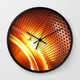 Orange machine abstract Wall Clock