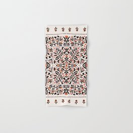 N153 - Floral Bohemian Traditional Moroccan Style Illustration Hand & Bath Towel