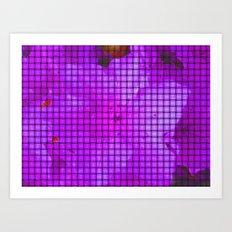 Purple flower pattern Art Print
