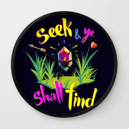 Legend of Zelda Seek and Ye Shall Find Wall Clock