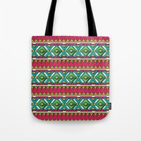 aztec Tote Bags featuring Aztec by Shelly Bremmer