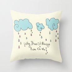 Rain Throw Pillow