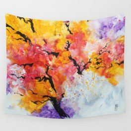 Abstraction on a tree Wall Tapestry
