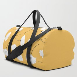 Poppies on mustard Duffle Bag
