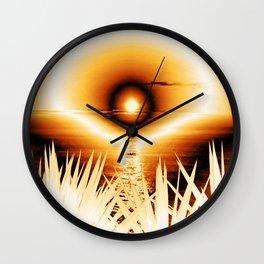 romantic evening, effect Wall Clock
