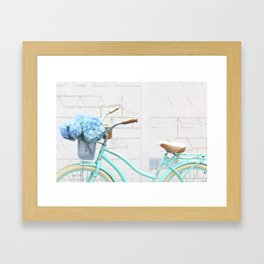 Turquoise Bike Framed Art Print